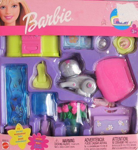 Barbie TRENDY HOME ACCESSORIES Pack (FAMILY ROOM) w 15+ Pieces! (2002) by Mattel. $58.99