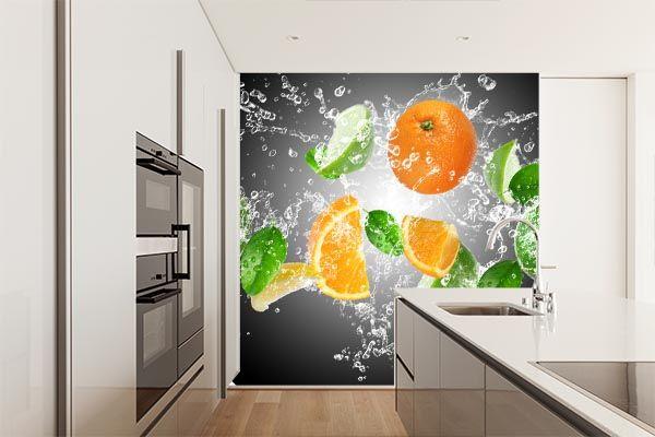 Naklejka na ścianę w kuchni - aranżacja z owocami, która zaskoczy gości  http://ecoformat.eu/193/fotolia/category.php?search=owoce&page=1