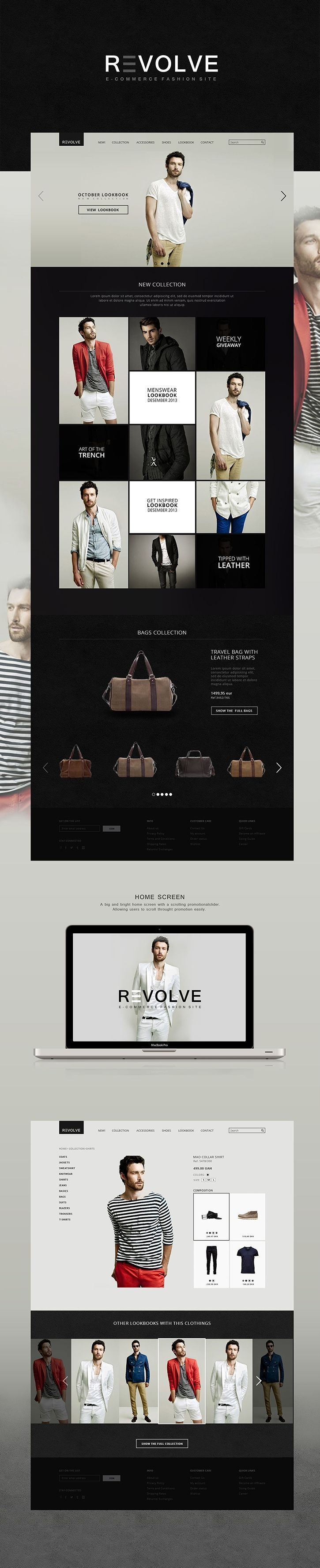 Clean Mondern ecommerce web site design