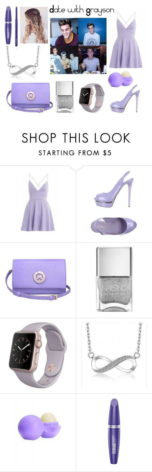"""Date with Grayson Dolan"" by janoskians1 ❤ liked on Polyvore featuring AX Paris, Le Silla, Metrocity, Eos, Max Factor and Dolan"
