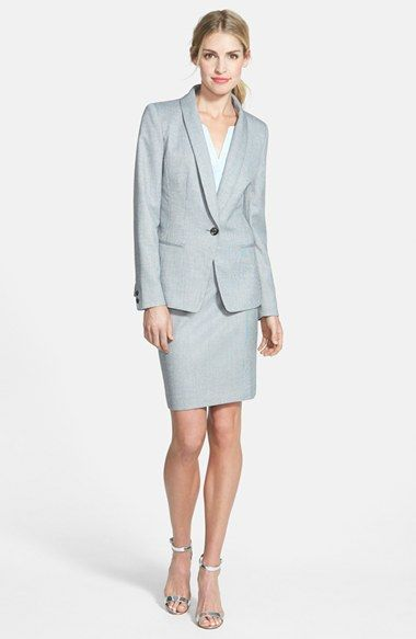 Halogen® Shawl Collar Suiting Jacket & Skirt available at #Nordstrom