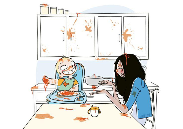 Рисунки для мамы прикольные