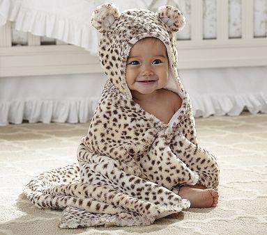 Nursery Snow Leopard Bath Wrap @Reilly Grace Grace Richardson MAKE THIS HAPPEN! hahahah