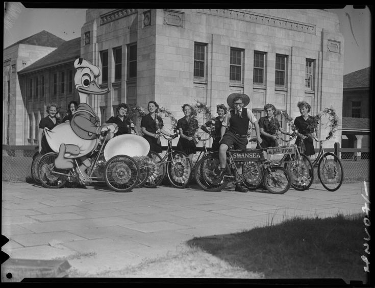 241165PD: Swansea Cycles participants in the Jubilee Day Cavalcade, Perth, 9 May 1951 https://encore.slwa.wa.gov.au/iii/encore/record/C__Rb3760659