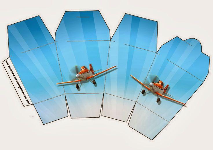 Cajas de Aviones de Disney para Imprimir Gratis.