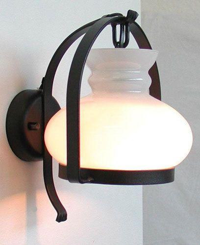 LAMPADA-APPLIQUE-COUNTRY-DA-FERRO-BATTUTO-LAMPADA-DA-PARETE-cm-21x17x18-NERO