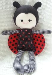 Dandelion Wishes - Ladybug Doll - made using the Elf Pop Ladybug Sewing Pattern  https://www.etsy.com/uk/listing/157623697/ladybug-cloth-doll-sewing-pattern-pdf?ref=shop_home_active