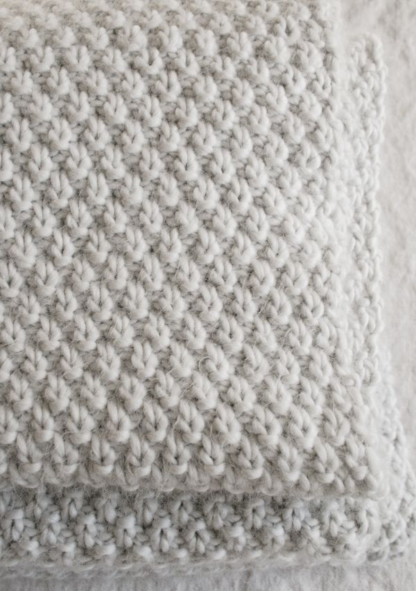 Double Seed Stitch Blanket | The Purl Bee