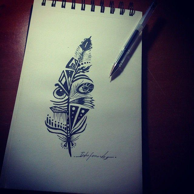 Maori Feather Tattoo: Tattoo Idea. Maori Feather.