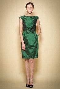 Rochie de seara tafta verde