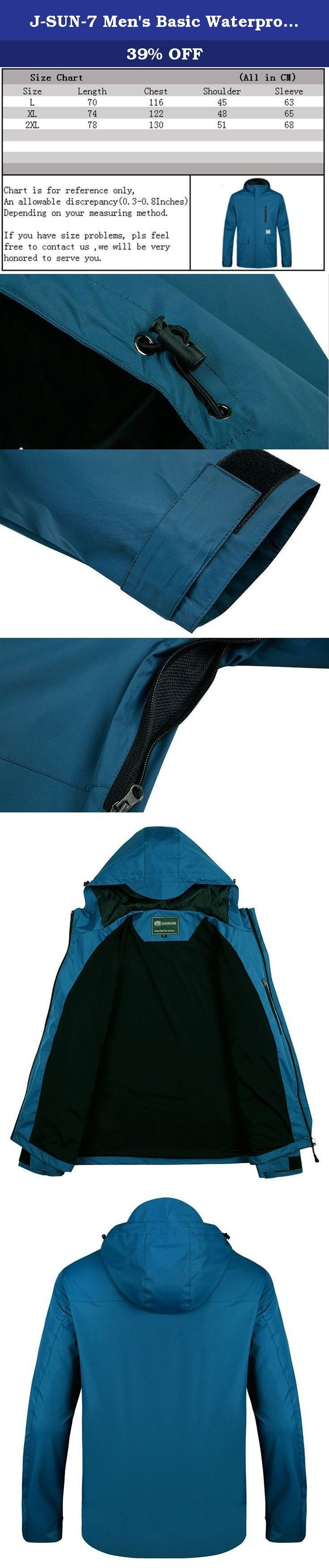 J-SUN-7 Men's Basic Waterproof Outdoor Sport Jacket Coat(Light Blue,US XL/AsianXL). A Letter to Customer J-SUN-7 Fashion Store aims to provide the best products and service for you and make your life more convenient & brilliant. To ensure what you received works in good condition, all the products we sell from manufacturing - stocking - packing - shipping have passed strict quality test. All we want is to serve our customers well and make you feel surprised when you get the item. If you…