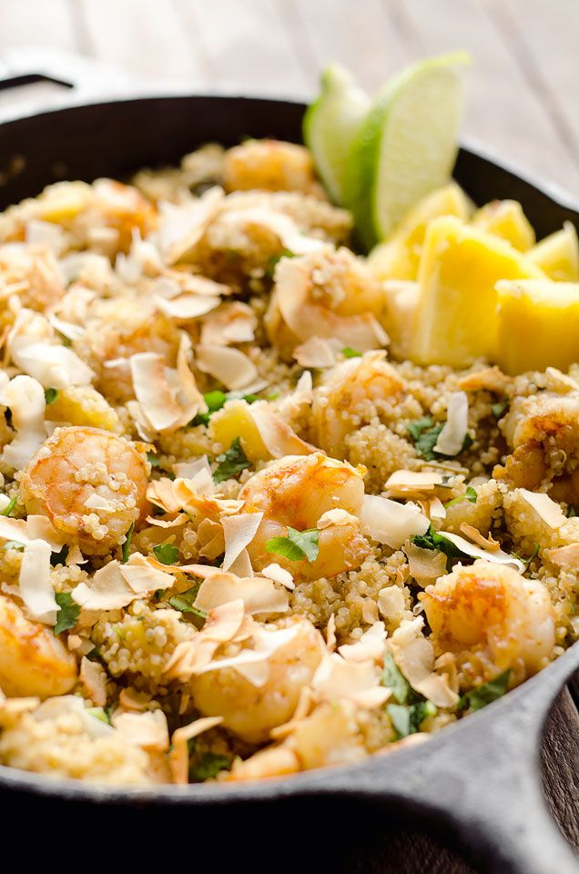 pineapple and shrimp fried quinoa and healthy pineapple quinoa fried ...