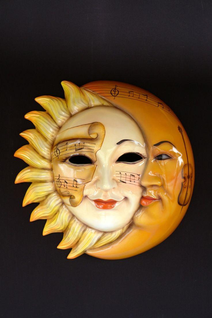 Sun Amp Moon Sole E Luna Giallo Mask Mask Querade Sun