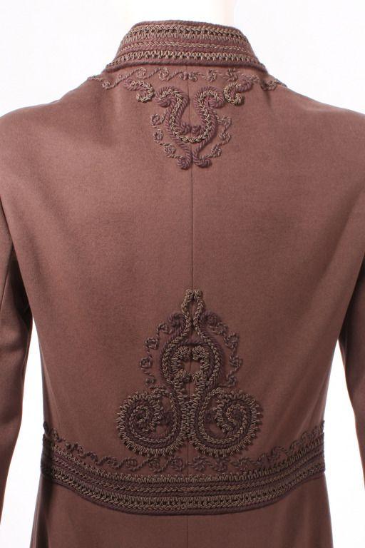 Yves Saint Laurent Haute Couture Russian Passementerie Coat #26438 image 5