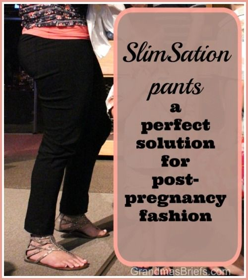 SlimSation pants a perfect solution for post-pregnancy fashion. #ad #review