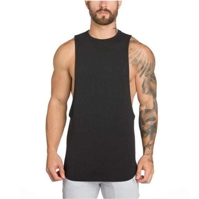 Gym Hommes Sans Manches Bodybuilding Débardeur Muscle Stringer Athletic fittness Shirt