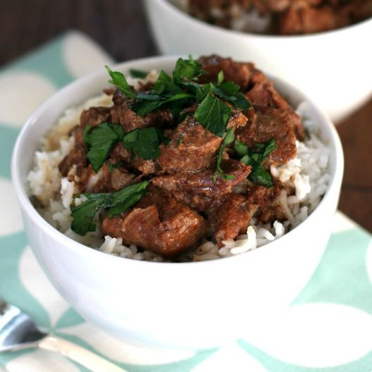Slow Cooker Beef Tips over Rice - The Magical Slow CookerThe Magical Slow Cooker