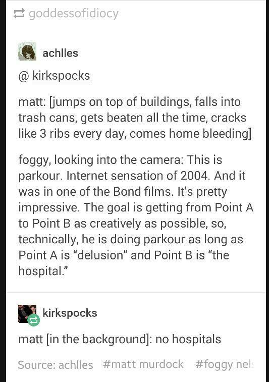 """Matt """"No hospitals"""" Murdock"""