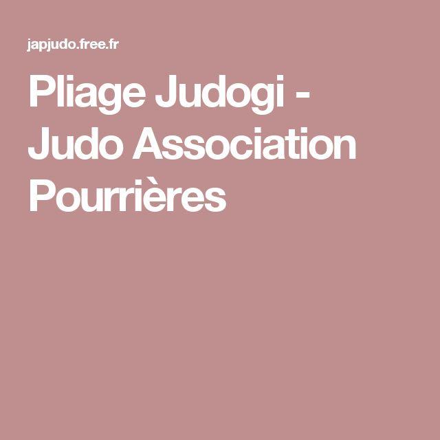 Pliage Judogi - Judo Association Pourrières