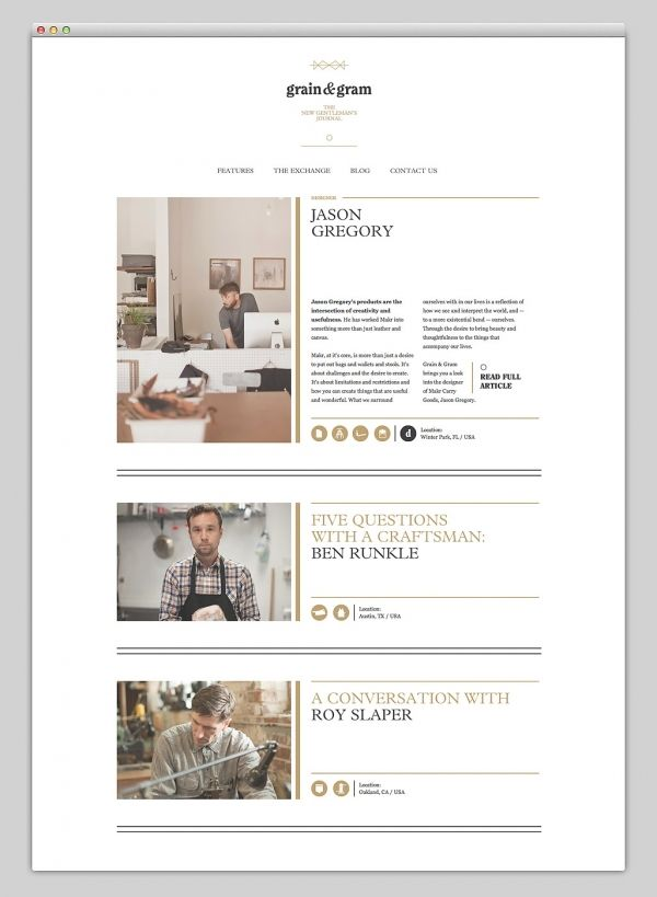 Web / Grain & Gram — Designspiration