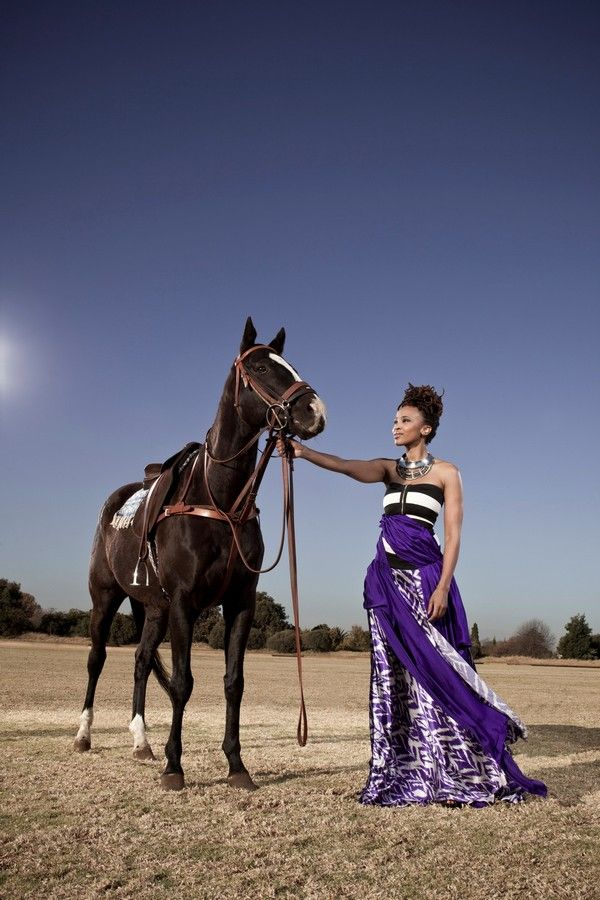 Claire Mawisa by Chris Saunders for Vodacom Durban July | www.pegasebuzz.co.