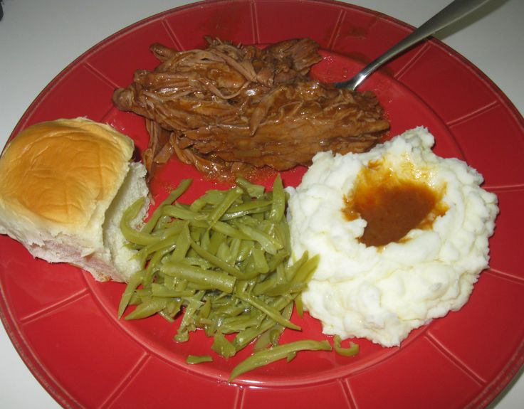 Crockpot Top Round London Broil Recipe I substituted a few things as I didn't have certain things on hand: 1 jar mushroom gravy (no soup on hand); didn't use tomato soup; and used red wine period!  This was so tender and delish!