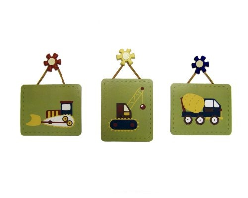 $29.99-$29.99 Baby Crown Crafts Inc Eddie Bauer 3pc. Wall Art Little BuilderLittle Builder Wall Art comes in a set of three and features the front loader, wrecking ball truck and cement truck. Comes ready to hang. Coordinates with a full line of infant bedding. Each measures 12 x 11 inchesFeatures include: •Set of Three.•Surface clean only.•Comes ready to hang