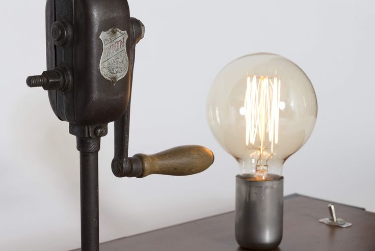 The Drill. One of a kind – Handmade table lamp with Ixion the vintage hand drill.