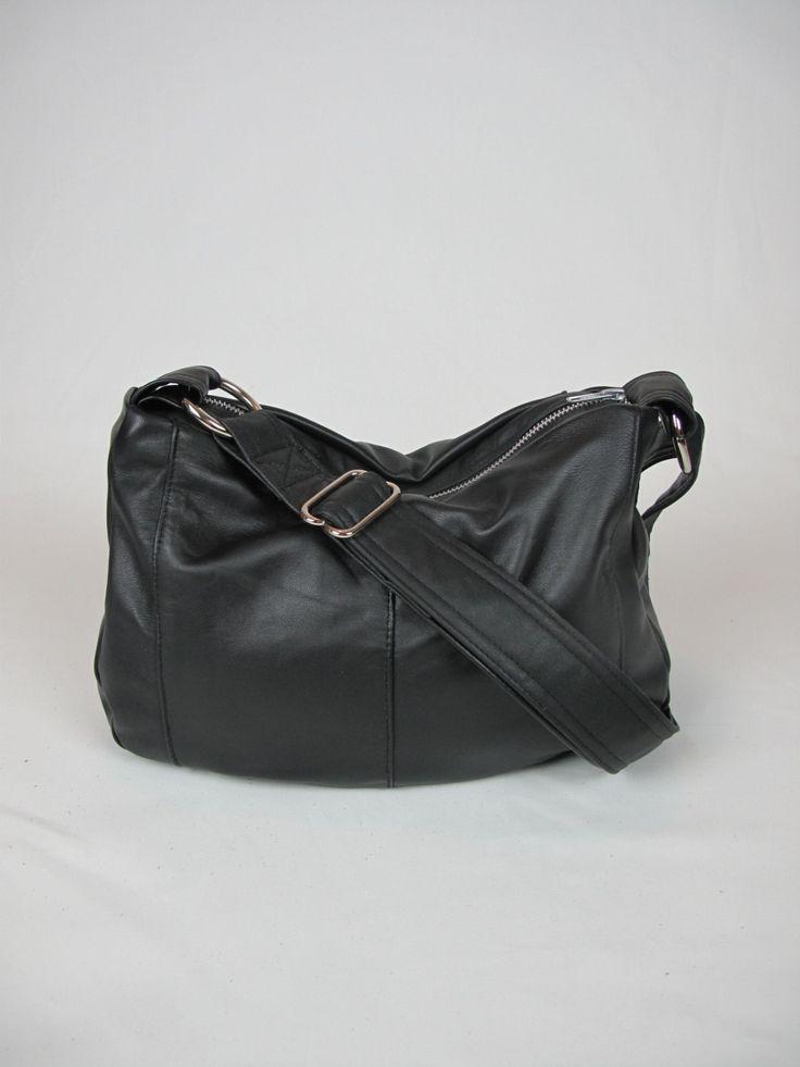 Mischa - small sized, Glossy Black Recycled Leather Handbag by cinderandsmoke on Etsy https://www.etsy.com/listing/210435785/mischa-small-sized-glossy-black-recycled