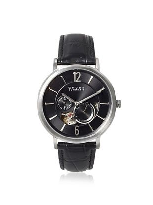 60% OFF Cross Men's CR8016-01 Avant Garde Black Stainless Steel Watch