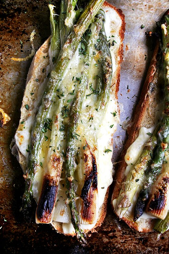 Asparagus and Spring Onion Croque Monsieur by alexandracoooks #Sandwich #Croque_Monsieur #Asparagus