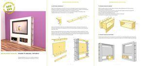 preview van de werktekening van zelfbouw extra ondiep tv wandmeubel antonio
