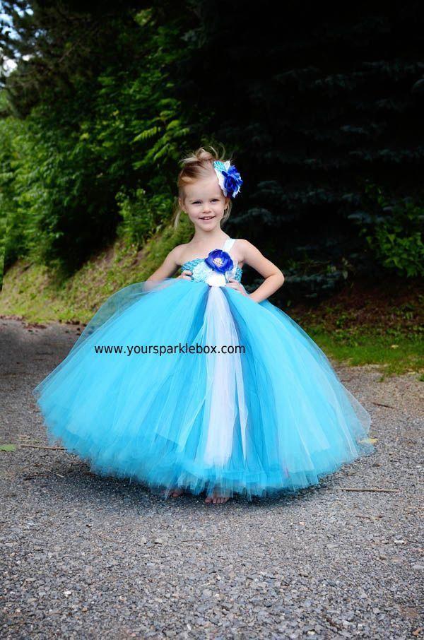 82d43b892 Peacock Tutu Flower Girl Dress   Your Sparkle Box Flower Girl Tutu Dresses  for weddings #bluebridesmaiddresseskids
