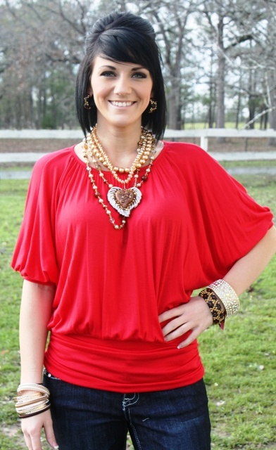 Red Simple Tunic  $20.00  Size: Small, Medium, Large  To order, follow this link:  www.giddyupglamou...