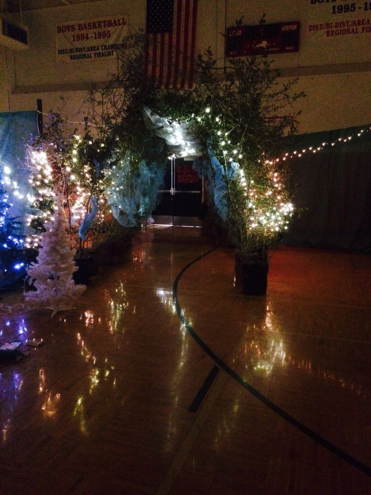 Enchanted forest entrance from real trees | Prom ...