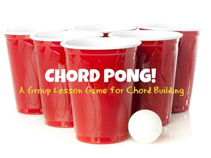 Chord Pong! A free group lesson game for chord building that your students are sure to love.  FunPianoTeaching.com