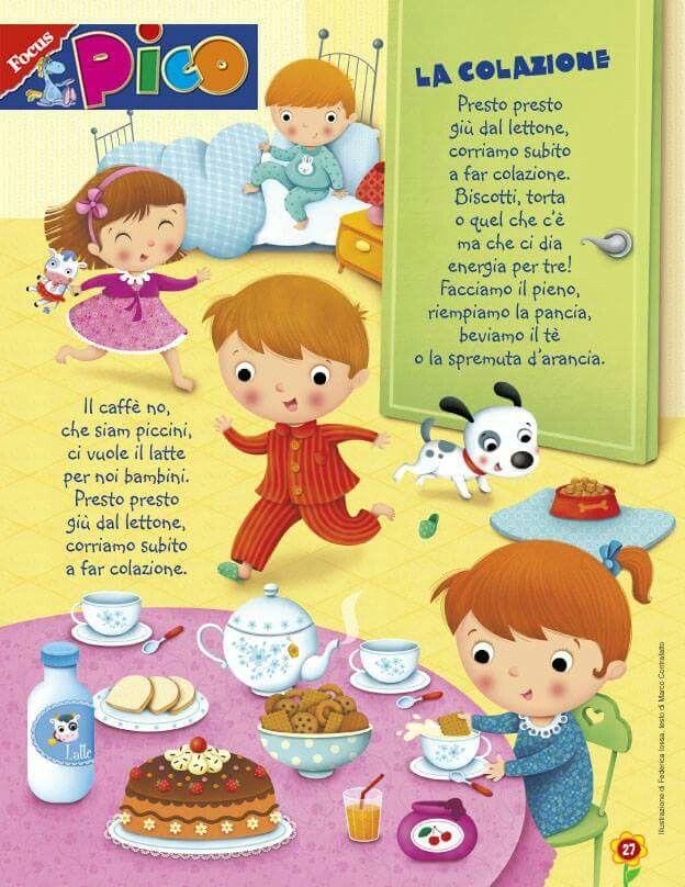 """Filastrocca """"La colazione"""""""
