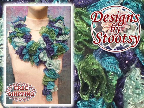 Sashay Crocheted Scarf  Multicolored 9505 by DesignsByStootsy