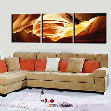 Stretched Canvas Print Abstract Landscape Set of 3 1301-0174 – USD $ 50.99