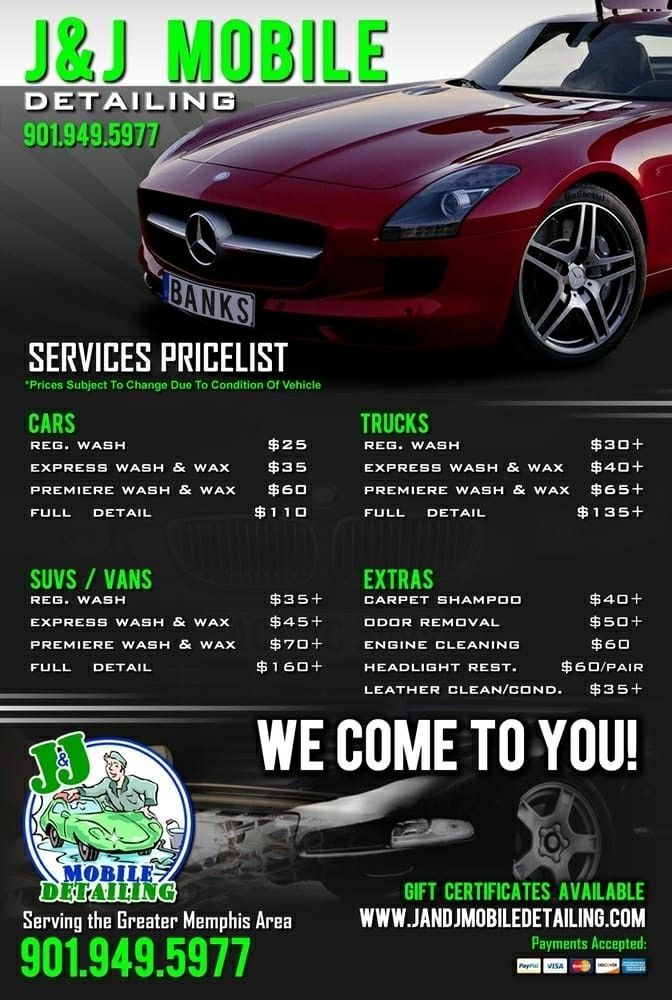 Car Detailing Price List Template How Will Car Detailing Price List Template Be In The Futur Car Wash Services Car Wash Business Car Detailing