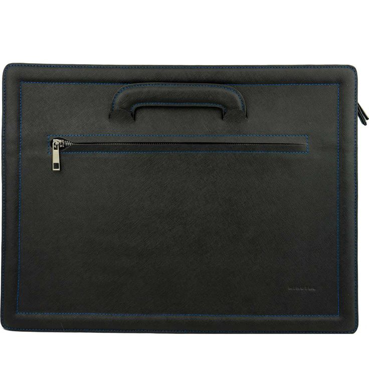 MINUTIAE Leather Briefcase - Black – @minutiae_au #minutiae #luxury #Australian #leather #men #briefcase #saffiano