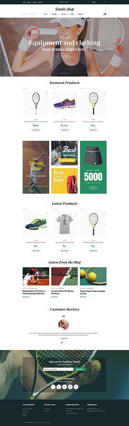 Tennis Equipment Online Store #Virtuemart #template. #themes #business #responsive