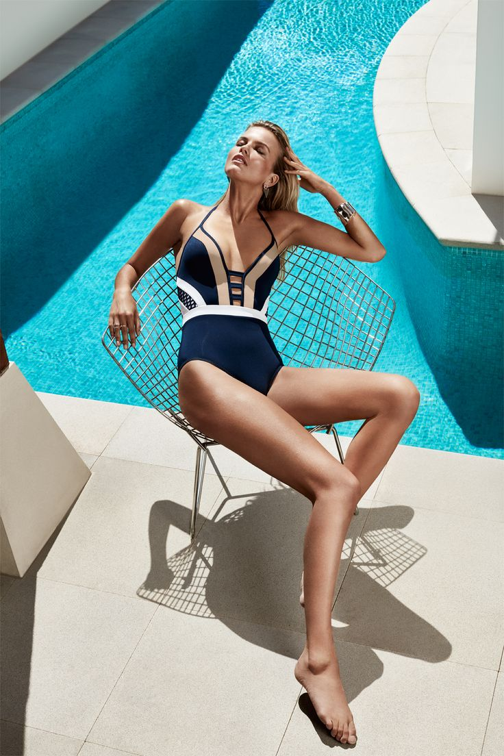 JETS Swimwear Deluxe Plunge One Piece Swimsuit | Take the plunge with this stunning colour blocked swimsuit proving fashions been in training. Luxury meets new wave radical styling, it's time to shop it like it's hot.