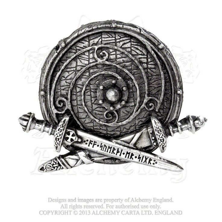 Viking Shield Belt Buckle by ALCHEMY GOTHIC - War Band Rune Sword Runic Norse buckle