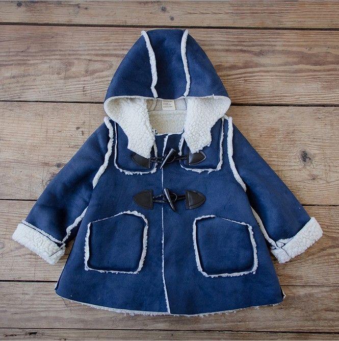 Taobao.nl - De nieuwe vrouwelijke baby meisjes kinderen dragen winter plus dikke fluwelen jasje winterjas katoenen baby kleding 1-2 jaar oud 3