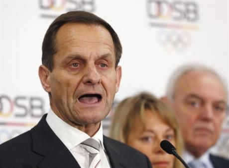 The president of the German Olympic Committee has called for Russia to be banned from the 2018 and 2020 Olympics if sports bosses there are found to have known about state-sponsored doping.