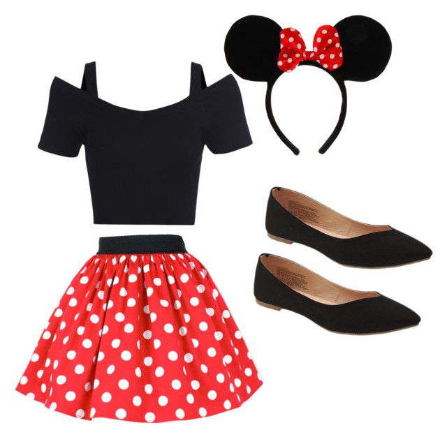 """Cute Minnie costume"" by madisenharris on Polyvore featuring Disney and Old Navy"