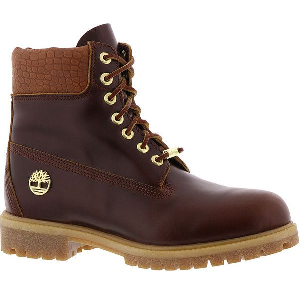 Timberland Premium Boot Men's Tan Boot ($190) ❤ liked on Polyvore featuring men's fashion, men's shoes, men's boots, men's work boots, tan, timberland mens work boots and timberland mens boots