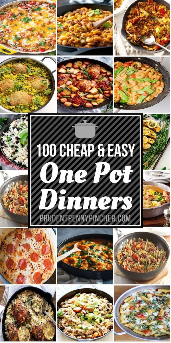 100 Cheap Easy One Pot Meals Easy One Pot Meals One Pot Meals
