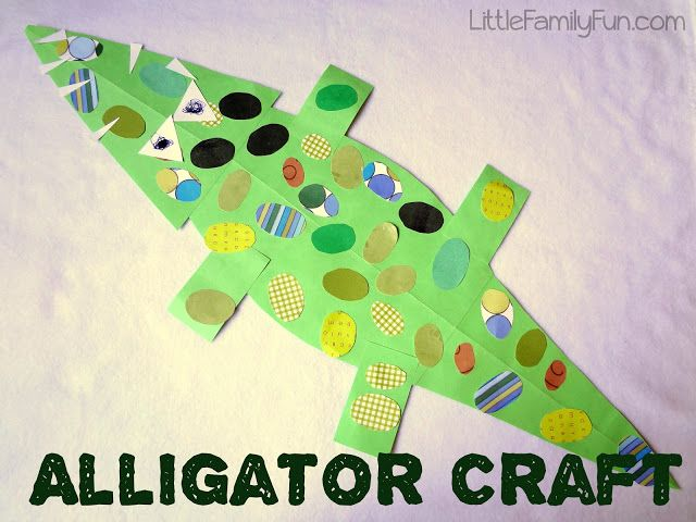 """The boys and I made this awesome alligator craft together to go along with the book we read: """"Trosclair and the Alligator,"""" by Peter..."""